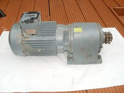 2.2kw 3 phase motor and gearbox