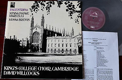 Hmv Hqs 1237 Palestrina Missa Papae Marcelli/brevis Lp Willcocks Nm (1971)
