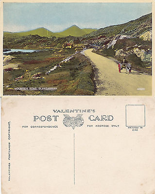 1920's MOUNTAIN ROAD GLENGARRIFF COUNTY CORK IRELAND UNUSED COLOUR POSTCARD