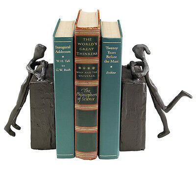 Design Toscano Cast Iron Statues Book Ends Set of 2