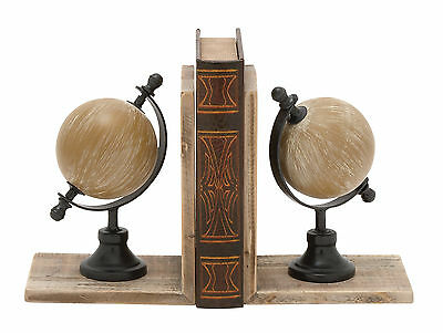 Cole & Grey Globe Bookends Set of 2