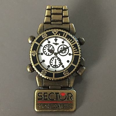 Rare Pins Montre Watch Sector Qualite Arthus Bertrand