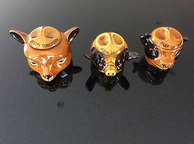 Szeiler Pottery 3 Storage Jars Including Rare Mutton One