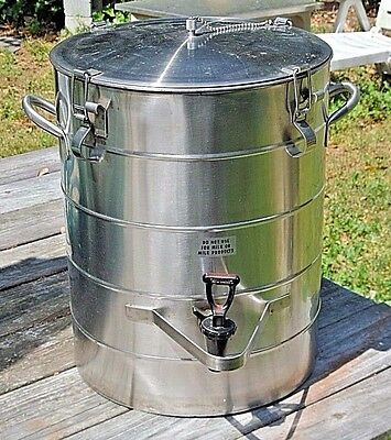 Stainless Steel 5 Gallon Thermal Vacuum Liquid/Fluids Dispenser Aervoid Urn NSF