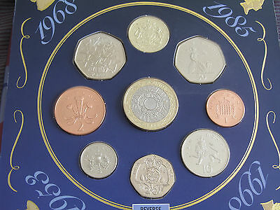 UK 1998 Brilliant Uncirculated Coin Set. Includes the very scarce Royal Arms £1