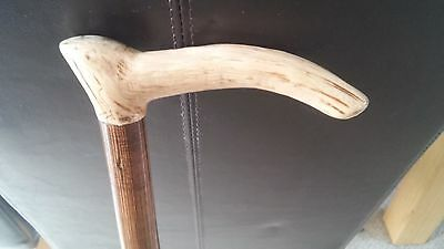 HANDMADE 'DiamondBack' WOODEN WALKING STICK / CANE - MADE FROM RE-CLAIMED WOOD