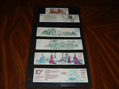 Great Britain MNH stamp booklets - 1982 - 6 booklets, post office fresh !!