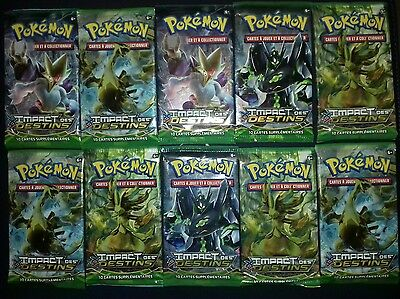 Lot 10 Boosters Pokémon Impact des Destins Neuf FR XY 10 / Display Ultra Rare
