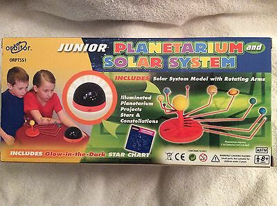 Jr Planetarium and Solar System Model Glow in the Dark Star Space Science Toy