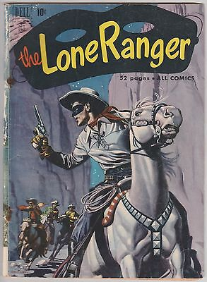The Lone Ranger #40 Dell Comics Golden Age Western Cowboy 1951