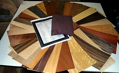 Real Wood Veneer Sheets Exotic Selection No3 For Marquetry,models,restorations