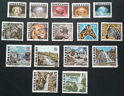 Zimbabwe first definitives 1980 (gems, animals and waterfalls)