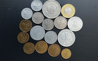 Poland Polish Zloty and Grozy coins