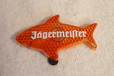 New In Package Jagermeister Orange Shark Light Up Flashing Reflector Clip On