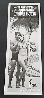 1971 - Coppertone Tanning Butter Most Exciting Tan  Hawaii - Vintage Print Ad