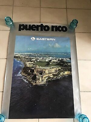 vintage Eastern Airlines poster Puerto Rico