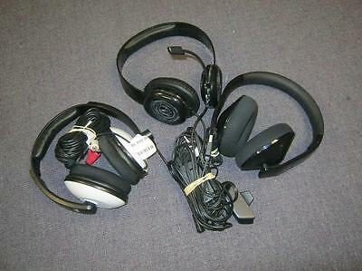 lot of 3 DEFECTIVE Headsets