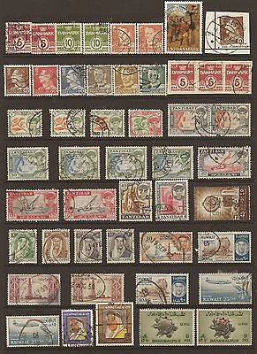 Collection Of 100 Mixed World Stamps Mnh To Good Used - Free Uk Postage