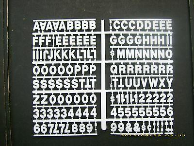 """3/4"""" White Pepsi-Cola Menu Board or Message Sign Letters,Numbers & Symbols"""