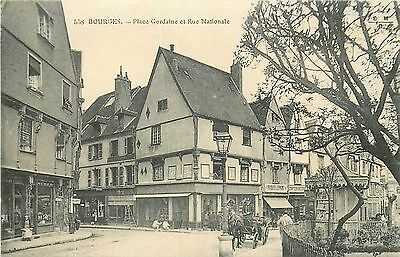 18 Bourges Place Gordaine Et Rue Nationale Animees - Caleche