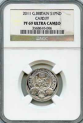 Amazing 2011 NGC PF69 Ultra Cameo Great Britain S1 PND Cardiff NC938