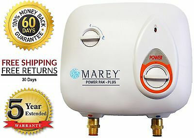 Marey Electric Tankless Hot Water Heater 2 GPM 220v 8.8Kw - Expandable