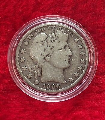 1906-S Silver Barber Half Dollar- Scarce !! Better Date !!