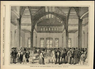Interior New York Produce Exchange Magnificent Arch 1870 antique engraved print
