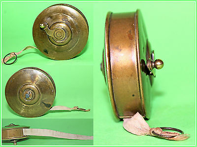 Vintage 10 m Tape Measure Brass Case and Cloth, Europe
