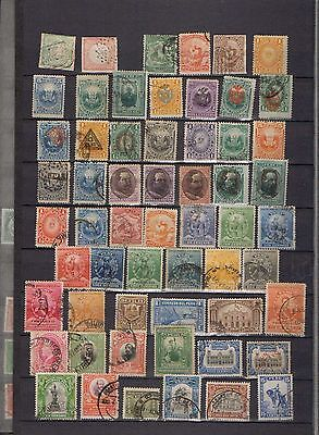 Peru. 1862 – 1945. A collection of  79 used early stamps.