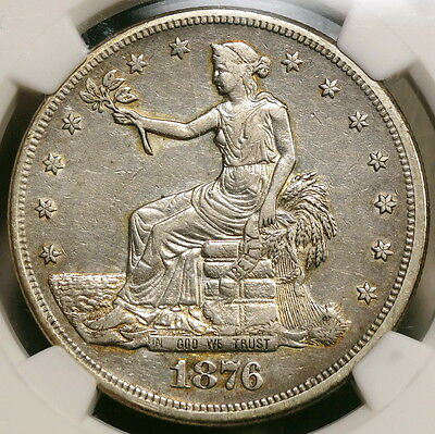 1876-CC Trade Dollar, NGC Certified Rare Carson City Mint Date - Discounted