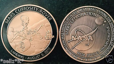 NASA Curiosity Rover Landing August 5th 2012 Mars Exploration Coin United States