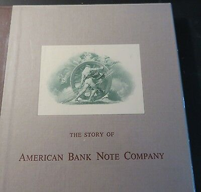The Story of American Bank Note Company 1959 1st Edition HC