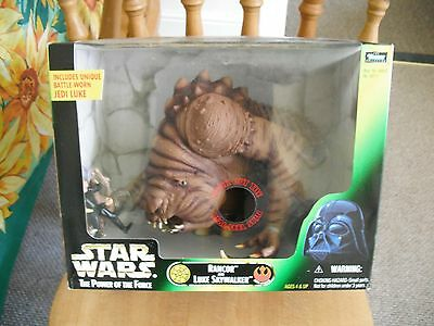 starwars RANCOR AND LUKE action figures power of the force