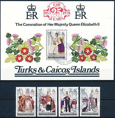 Turks & Caicos Islands Scott 342-346 Set of 4, S/S used