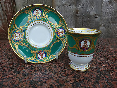 Demitass China C/S Royal Yacht Victoria & Albert III Edward VII Circa 1901-10
