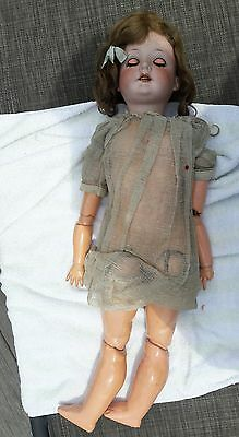 Antique C.M. Bergmann Walterhausen German 1916, 24 Inch Porcelain Doll