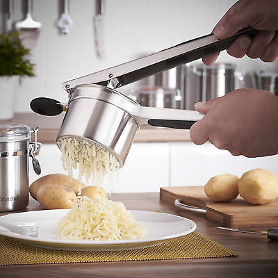 Professional Stainless Steel Potato Ricer Handheld Purée Masher Juicer Baby Food