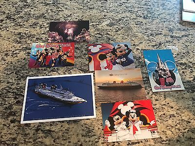 Lot of 6 Unused Disney Cruise World Post Cards Plus Castaway Club Limited Art