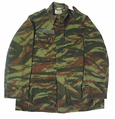 Vintage Original Vietnam War Era French Lizard Camo Shirt Jacket