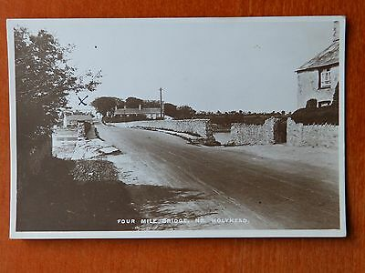 Boots Pelham real photograph postcard: Four Mile Bridge nr Holyhead, Anglesey