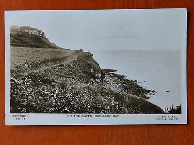 Lilywhite real photograph postcard: On the Cliffs Benllech Bay, Anglesey, Wales