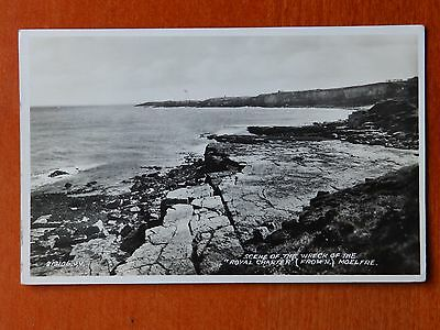 Valentine real photograph postcard: Wreck scene, Royal Charter, Moelfre Anglesey