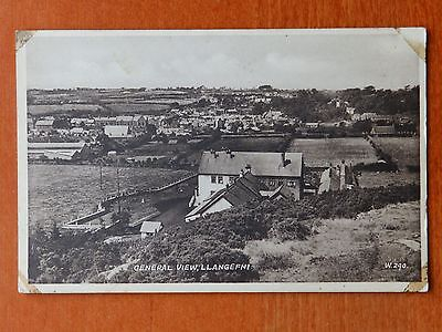 c. 1951 Valentine photographic postcard:  General view Llangefni Anglesey, Wales
