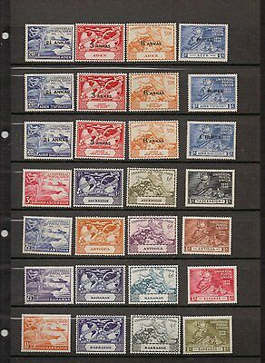 UPU. 1949. British Colonies mint omnibus set. Mostly MLH. (Please see notes)