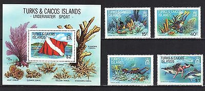 Turks & Caicos Islands. Water Sports 1981 Mnh