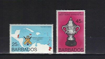 Barbados. World Cricket 1976 Mnh