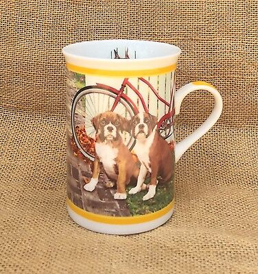 Danbury Mint Beautiful Boxers Porcelain Cup -Can We Go Too?