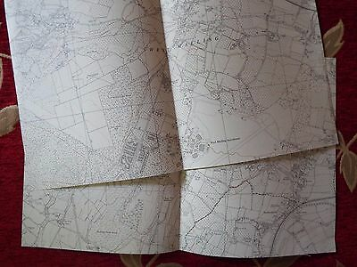 English Aviation History, map cuts of AIRFIELDS  (2) WEST MALLING N & S.