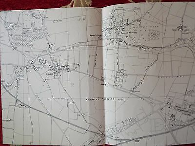 English Aviation History, map cuts of AIRFIELDS   ANDOVER